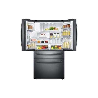 28.15 cu. ft. 4-Door French Door Refrigerator in Fingerprint Resistant Black Stainless