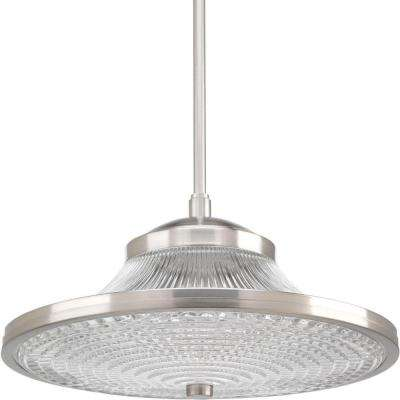 1-Light Brushed Nickel LED Pendant