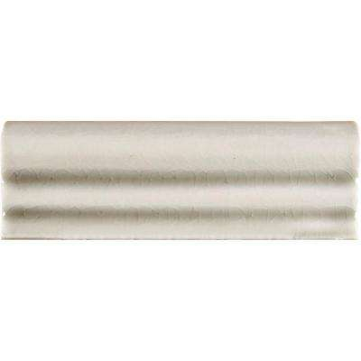 Antique White 2 in. x 6 in. Crown Molding Glazed Ceramic Wall Tile