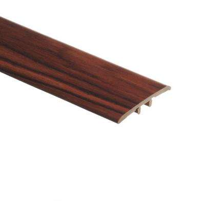 African Wood Dark 5/16 in. Thick x 1-3/4 in. Wide x 72 in. Length Vinyl T-Molding