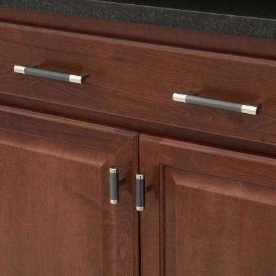 Esquire 5-1/16 in. (128 mm) Polished Nickel/Gunmetal Cabinet Center-to-Center Pull