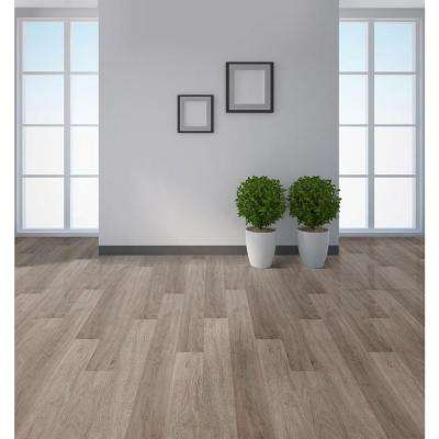 Embossed Silver Spur Oak 6 mm x 7-1/16 in. Width x 48 in. Length Vinyl Plank Flooring (23.64 sq.ft/case)