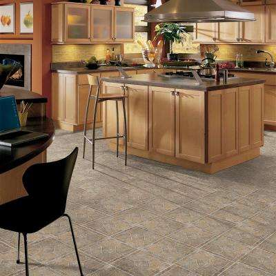 Multi-Color Bronze 12 in. x 12 in. Residential Peel and Stick Vinyl Tile Flooring (45 sq. ft. / case)