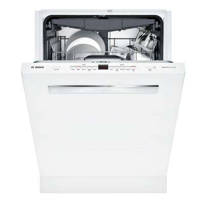 500 Series Top Control Tall Tub Dishwasher in White with Stainless Steel Tub and EasyGlide Rack System, 44dBA