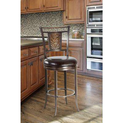 Parkside 47.75 in. Swivel Cushioned Bar Stool in Copper Finish