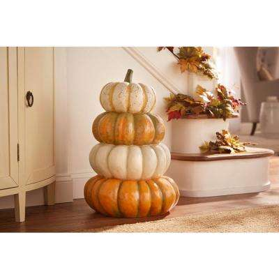 25 in. Stacked Heirloom Pumpkin Topiary