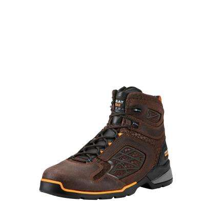 Men's Chocolate Brown Rebar Flex Work Work Boot