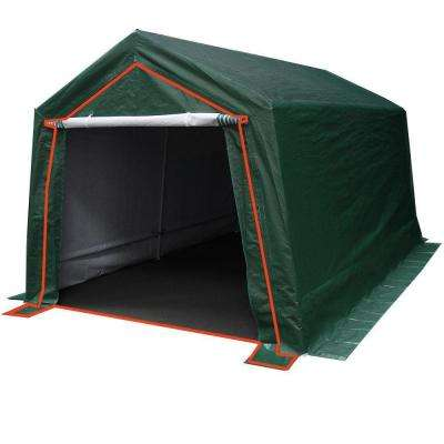 9 ft. W x 14 ft. D Green Garage End Wall with Zippers