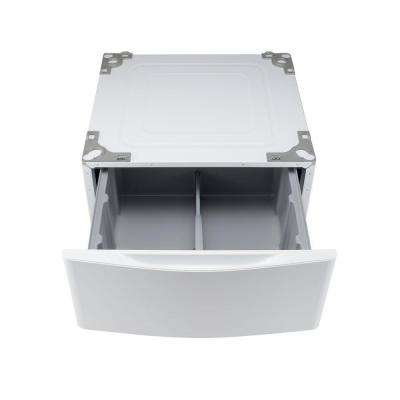29 in. Laundry Pedestal with Storage Drawer in White