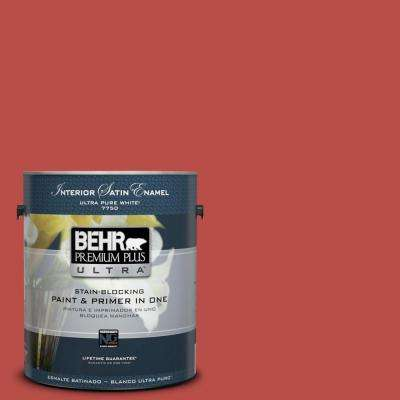 Home Decorators Collection 1-gal. #HDC-MD-16 Cherry Red Satin Enamel Interior Paint