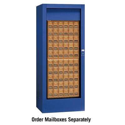 USPS Brass Style Rotary Mail Center in Blue
