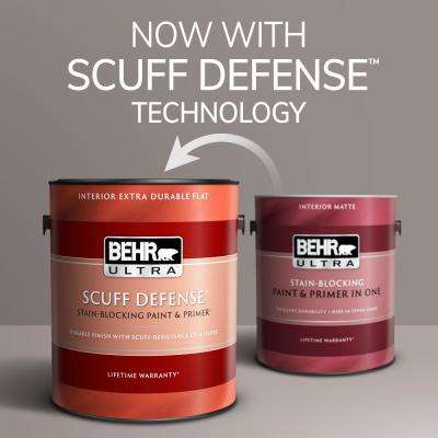 1 gal. #PPU18-13 Perfect Taupe Extra Durable Flat Interior Paint and Primer in One