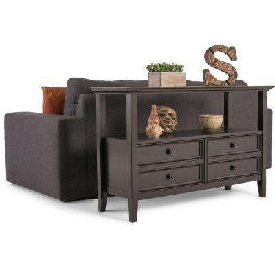 Amherst Dark Brown Storage Console Table