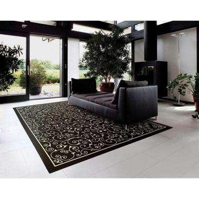 Home and Garden Pavilion Black 5 ft. x 7 ft. Indoor/Outdoor Area Rug