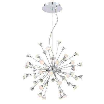 Esplo Collection 48-Light Chrome LED Chandelier