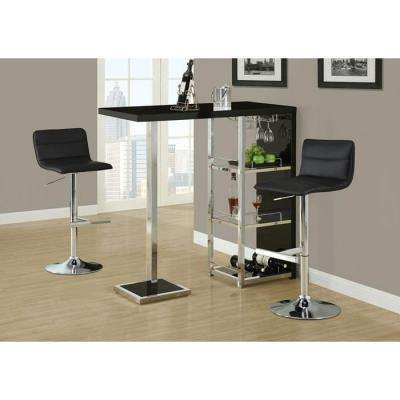 Metal Hydraulic Lift Barstool in Black and Chrome (2-Piece)