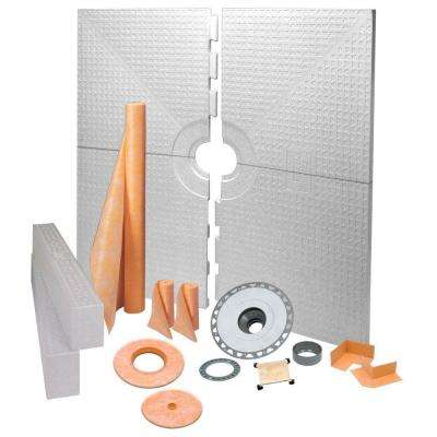 Kerdi 72 in. x 72 in. PVC Tileable Support Covering Shower Kit