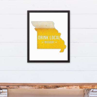 "16 in. x 20 in. ""Missouri Drink Local Beer  "" Printed Framed Canvas Wall Art"