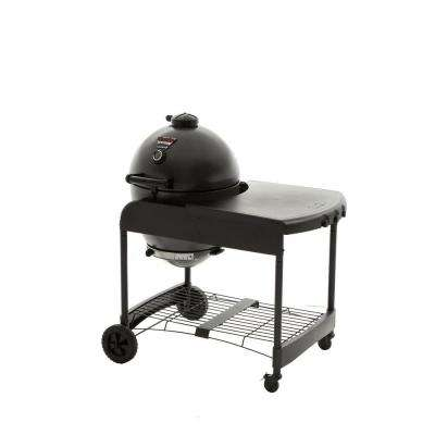 Akorn Kamado Kooker 22 in. Charcoal Grill in Grey with Cart
