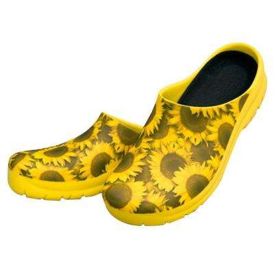 Women's Sunflowers Picture Clogs - Size 9