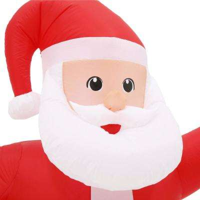 5.7 ft. Pre-lit Inflatable Santa and Merry Christmas Sign Scene