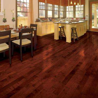 High Gloss Birch Cherry 3/8 in. T x 4-3/4 in. W x Varying Length Click Lock Hardwood Flooring (24.94 sq. ft. / case)