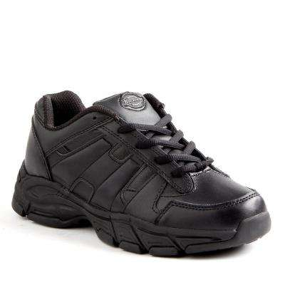 Athletic Lace Women Black Slip Resistant Safety Work Shoe