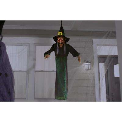 48 in. Animated Hanging Witch