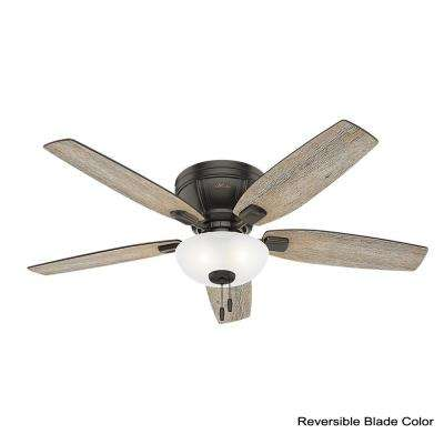 Kenbridge 52 in. LED Low Profile Indoor Noble Bronze Ceiling Fan
