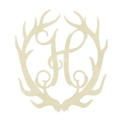 19.5 in. Unfinished Antler Monogram (H)