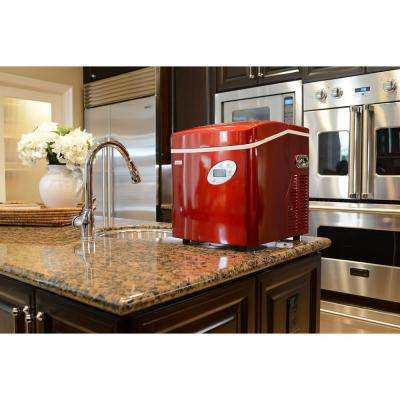 50 lb. Portable Ice Maker in Red