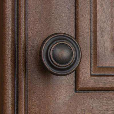 1-1/4 in. Dia Oil Rubbed Bronze Classic Round Ring Cabinet Knob (10-Pack)