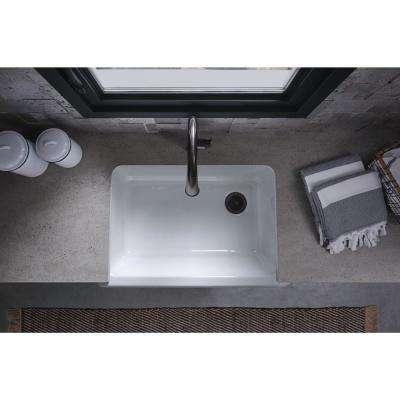 Whitehaven Farmhouse Apron-Front Cast-Iron 33 in. Single Bowl Kitchen Sink in White
