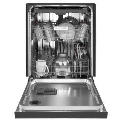 24 in. Front Control Tall Tub Dishwasher in PrintShield Stainless Steel with Stainless Steel, Third Level Utensil Rack