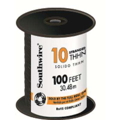 100 ft. 10 Black Stranded THHN Wire