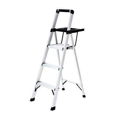 3-Step Aluminum Step Stool with Project Tray 250 lb. Load Capacity Type I Duty Rating