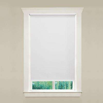 vinyl window shades window blinds cordless room darkening mil vinyl roller shade shades the home depot
