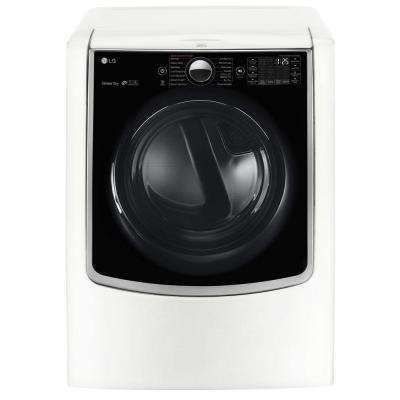 9.0 cu. ft. Gas Dryer with Steam in White