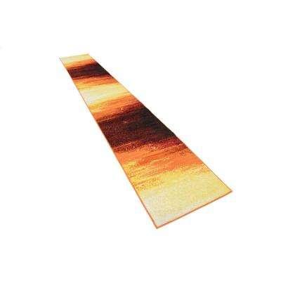 Metro Sunset Orange 2' 0 x 13' 0 Runner Rug