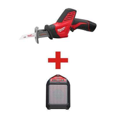 M12 12-Volt Lithium-Ion Cordless HACKZALL Reciprocating Saw Kit with Free M12 Wireless Speaker