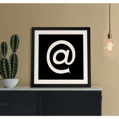 "20 in. x 20 in. ""AT"" Iconic Reverse Monogram"" Framed Giclee Print Wall Art"