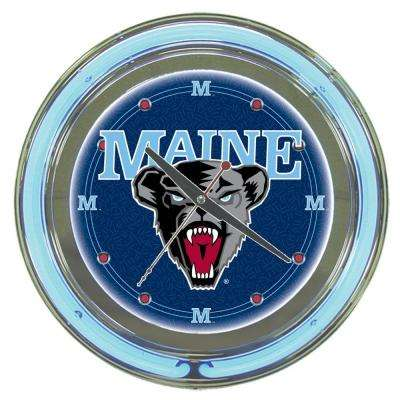 14 in. University of Maine Neon Wall Clock