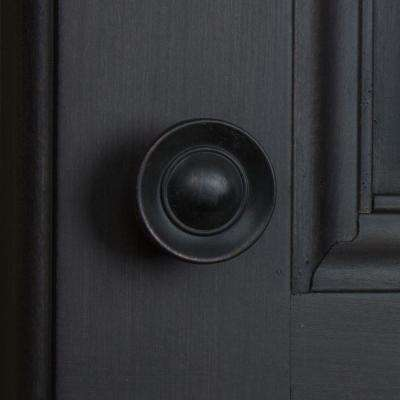 1 in. Dia Oil Rubbed Bronze Small Round Ring Button Cabinet Knob (10-Pack)