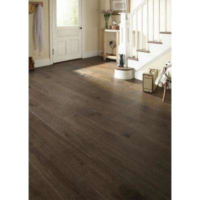 Wire Brushed Hickory Coffee 3/8 in. T x 7-1/2 in. W x Varying Length Click Lock Hardwood Flooring (30.92 sq. ft. / case)