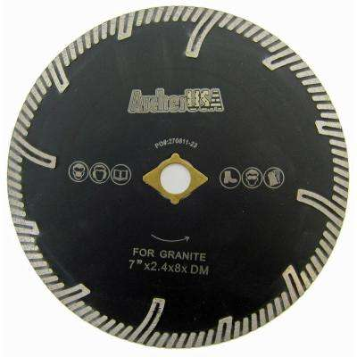 7 in. Turbo Rim Diamond Blade with Protect Teeth for Stone Cutting