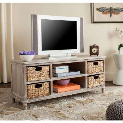 Rooney Entertainment Unit in Vintage White