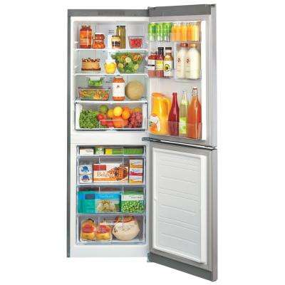 23.5 in. W 10.1 cu. ft. Bottom Freezer Refrigerator in Platinum Silver
