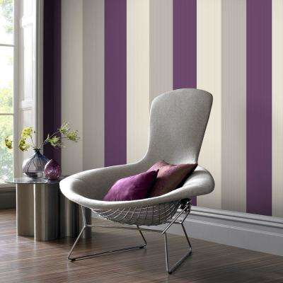 Stria Plum Wallpaper Sample