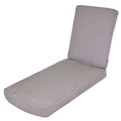 Gray Replacement 2-Piece Outdoor Chaise Lounge Cushion