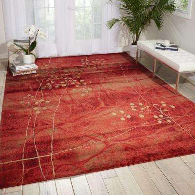 Somerset Flame 8 ft. x 11 ft. Area Rug